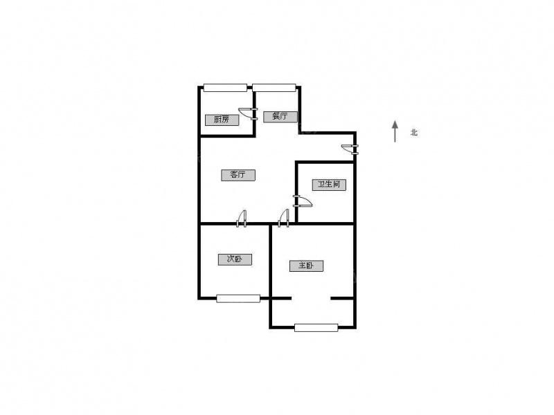 新装修,两室一厅,卫生间大,可月付,全新家具家电,拎包住