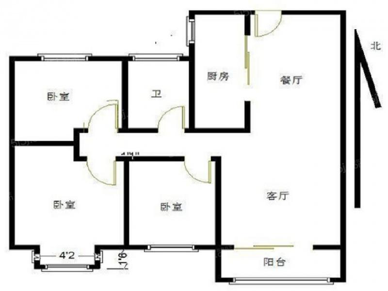 18 单价(万/m) 3室2厅 户型 95 面积(m) 小区:保利罗兰春天 楼层:中楼
