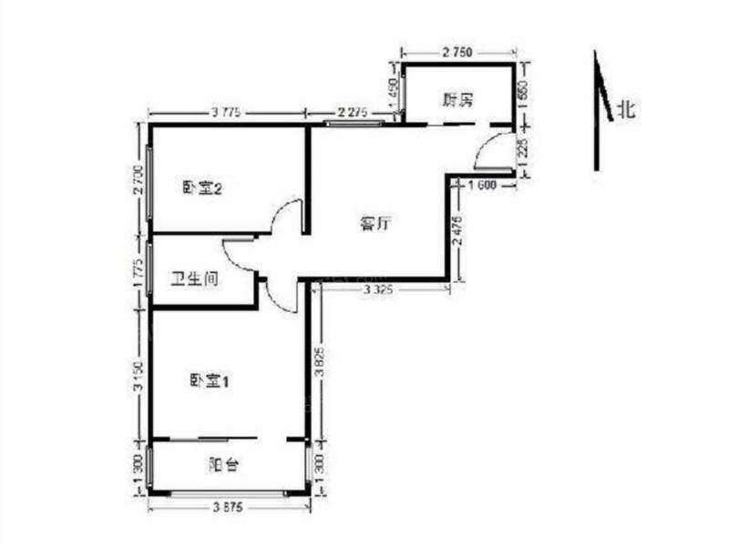2室1厅 户型 70 面积(平米) 押1付3 支付方式 小区:德隆家园9号院