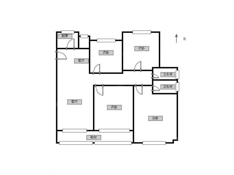 4室2厅 户型 130 面积(平米) 押2付3 支付方式 小区:金隅紫京府 楼层