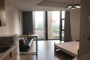 旭辉大厦精装单身公寓,空间大,采光足,正看奥体测看江